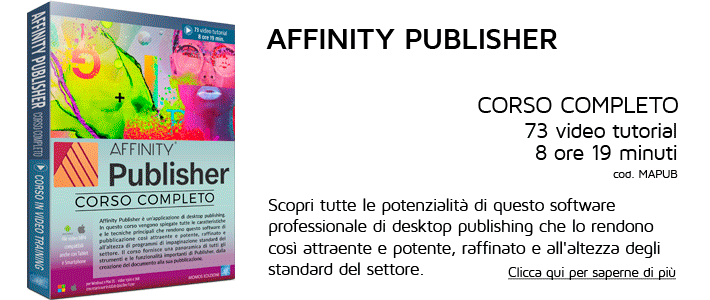 Corso Affinity Publisher